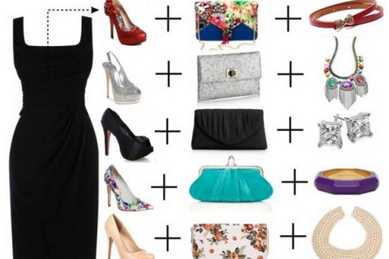 Как дополнить образ с маленьким черным платьем